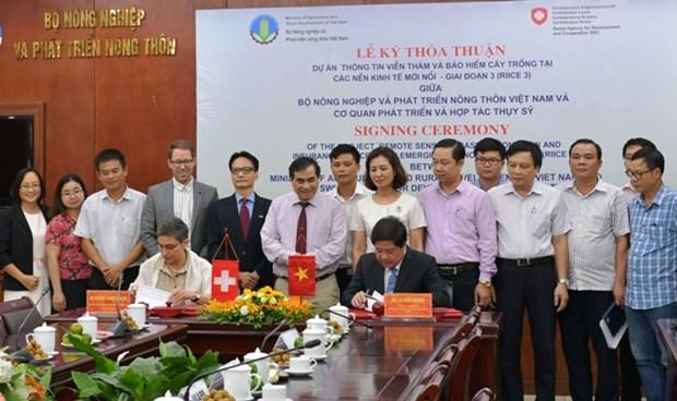 La Suisse aide le Vietnam a appliquer la technologie de teledetection a la production rizicole hinh anh 1