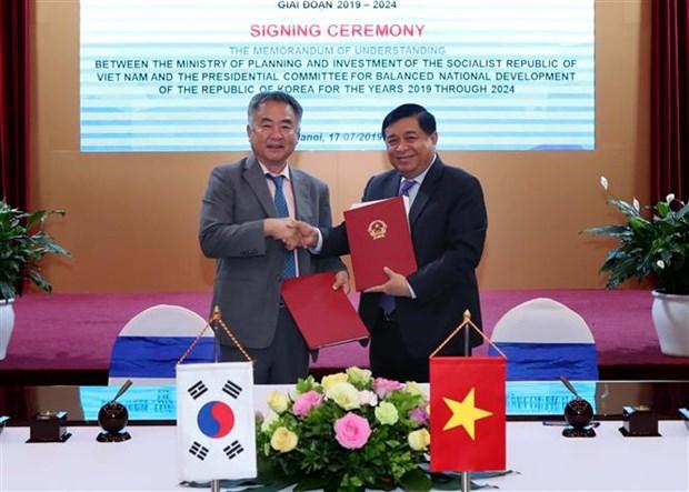 Le Vietnam et la R. de Coree cooperent dans l'elaboration de politiques de developpement equilibre hinh anh 1