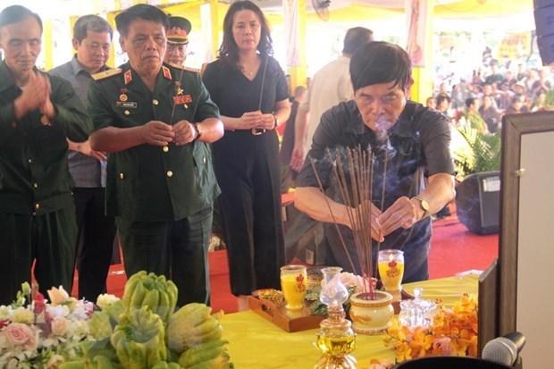 Activites a la memoire des heros morts pour la Patrie a Quang Tri hinh anh 1