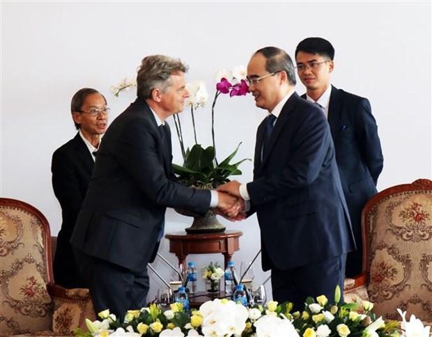 Le secretaire national du Parti communiste francais en visite a Ho Chi Minh-Ville hinh anh 1