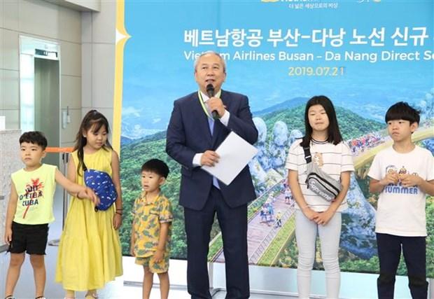 Vietnam Airlines lance la ligne aerienne directe Busan (Republique de Coree)-Da Nang hinh anh 1