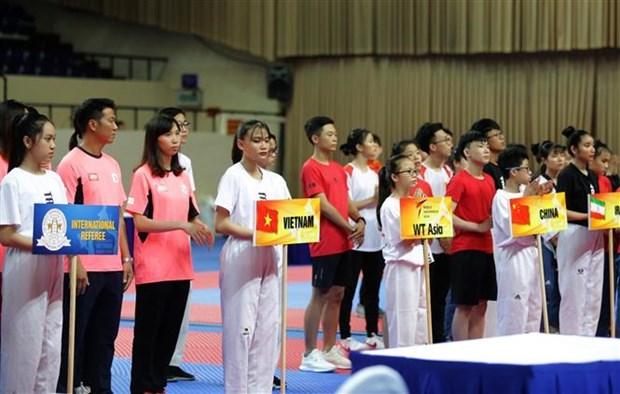 Ouverture du Championnat d'Asie de taekwondo elargi a Ho Chi Minh-Ville hinh anh 1