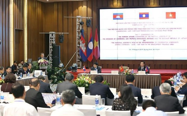 Les Assemblees nationales des pays Cambodge-Laos-Vietnam publient une declaration commune hinh anh 1