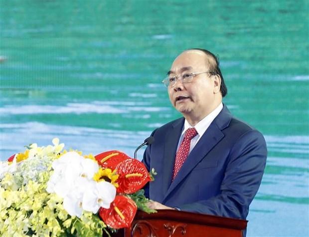 Le Premier ministre Nguyen Xuan Phuc en tournee a Bac Kan et Thai Nguyen hinh anh 1