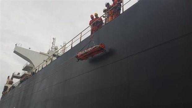 Ba Ria - Vung Tau : un marin chinois en detresse ramene sur la terre ferme hinh anh 1