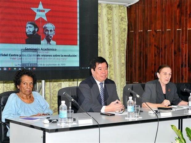 Les visions de Ho Chi Minh et Fidel Castro sur la revolution reaffirmees hinh anh 1
