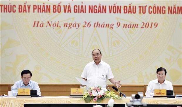Le PM demande d'accelerer le decaissement des investissements publics d'ici 2020 hinh anh 1