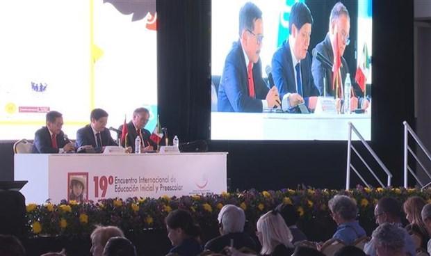 Le Vietnam participe a une conference internationale sur l'education prescolaire au Mexique hinh anh 1