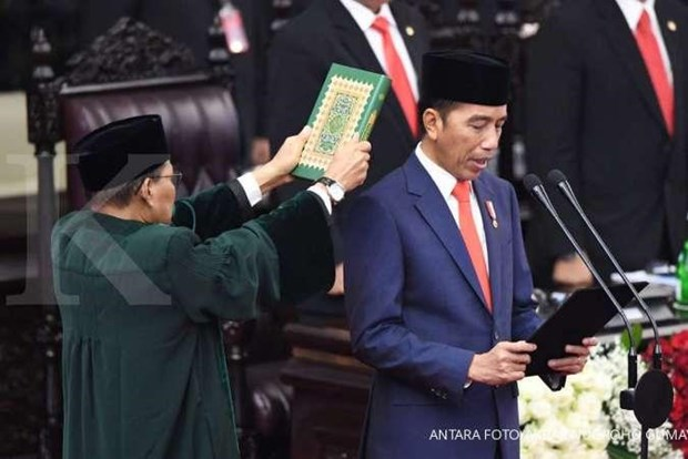 Indonesie : le president Joko Widodo prete serment pour un second mandat hinh anh 1