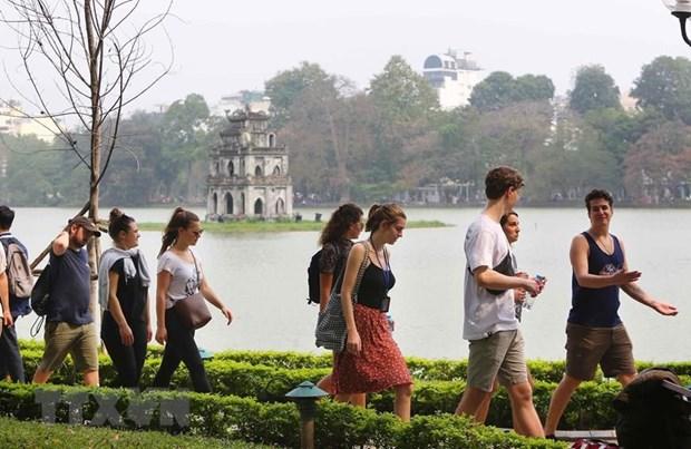 Le nombre de touristes etrangers a Hanoi en hausse de 10,8% en octobre hinh anh 1