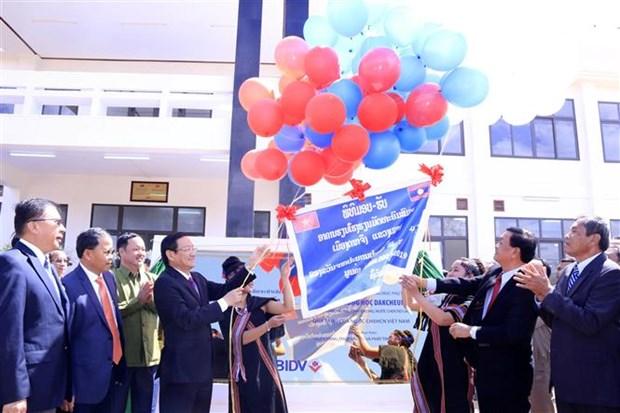 Laos: Inauguration d'une ecole construite avec l'aide de l'Etat vietnamien hinh anh 1