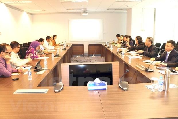 Une delegation de la Commission nationale de surveillance financiere en visite en Indonesie hinh anh 1