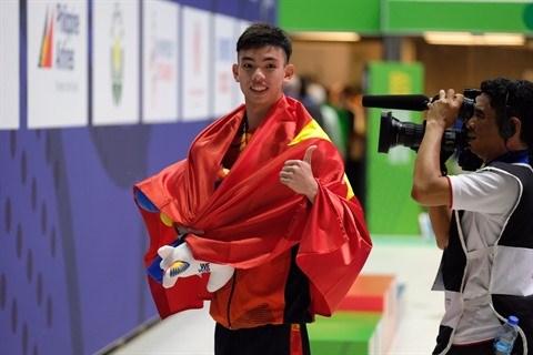 SEA Games 30 : le joli coup double de Nguyen Huy Hoang hinh anh 1