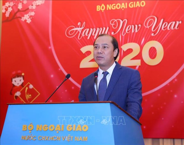 Rencontre avec la presse a l'occasion du Nouvel An 2020 hinh anh 1
