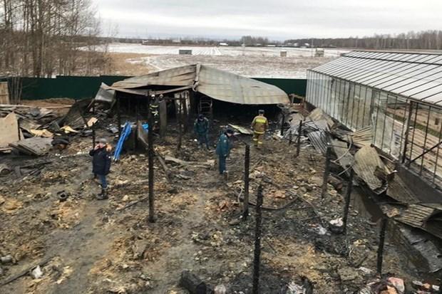 Un incendie a Moscou fait d'eventuelles victimes vietnamiennes hinh anh 1