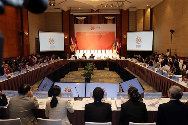 Reunion du Comite plenier pour la Communaute economique de l'ASEAN a Hanoi hinh anh 1