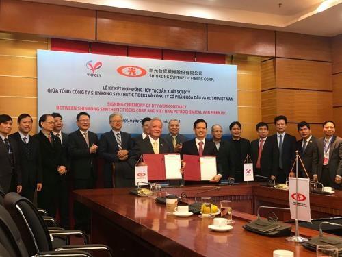 VNPOLY coopere avec le taiwanais SSFC dans la production de fils textures etires hinh anh 1