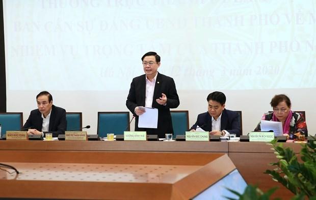 Hanoi cherche a promouvoir sa croissance economique malgre l'epidemie de COVID-19 hinh anh 1