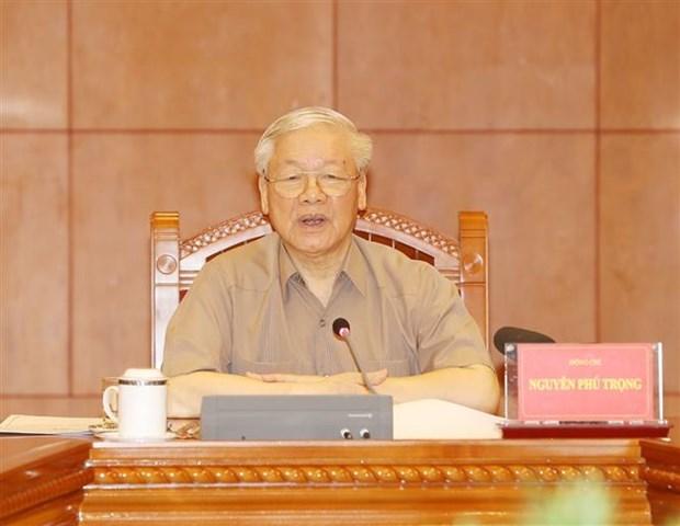 Le SG du Parti et le president Nguyen Phu Trong demande d'accelerer la lutte contre la corruption hinh anh 1