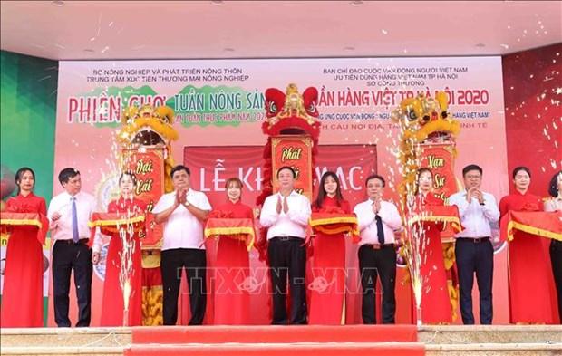Ouverture de la Semaine des produits vietnamiens a Hanoi hinh anh 1