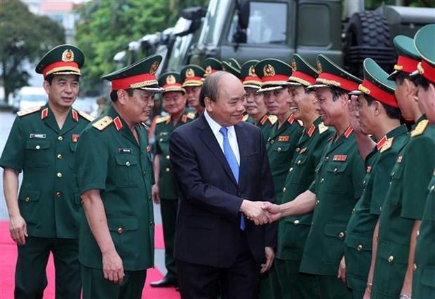Le Premier ministre assiste a la Journee traditionnelle du secteur de la logistique militaire hinh anh 1