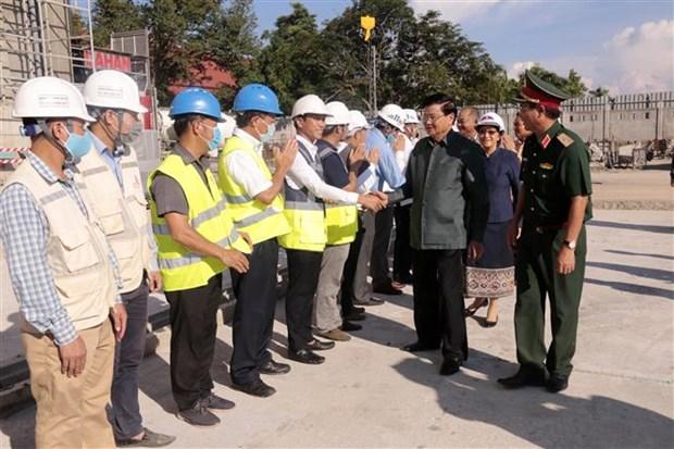 Le progres des travaux du nouveau siege de l'Assemblee nationale laotienne est assure hinh anh 1