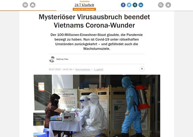 Medias allemands : le Vietnam est determine a se battre contre une seconde vague du coronavirus hinh anh 1