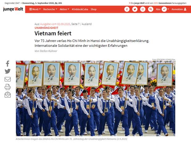 Fete nationale : des medias etrangers saluent les realisations du Vietnam hinh anh 1