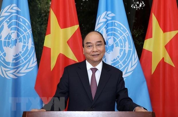 Le PM adresse un message a l'ONU pour son 75e anniversaire hinh anh 1