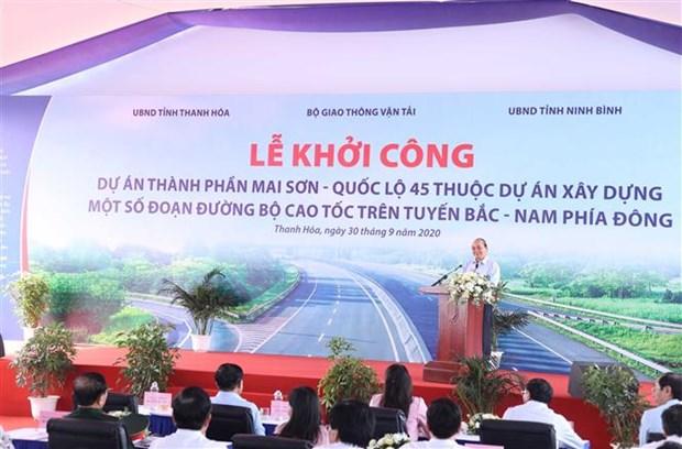 Mise en chantier de l'autoroute Mai Son – Nationale 45 hinh anh 1