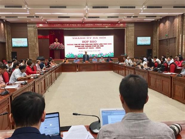Hanoi acheve les preparatifs pour le XVIIe congres du comite municipal du Parti hinh anh 1