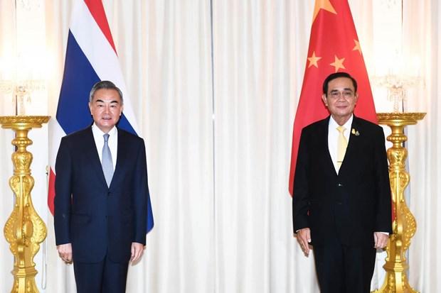 Le ministre chinois des Affaires etrangeres en visite officielle en Thailande hinh anh 1