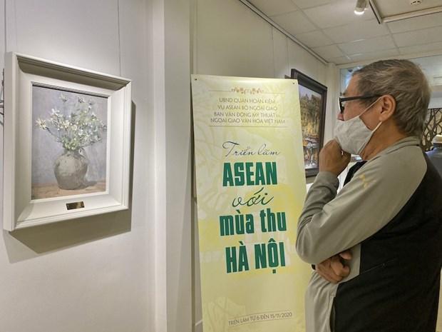 Exposition de peinture « ASEAN et automne a Hanoi » hinh anh 1