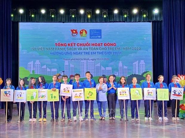 Fete « Enfant et environnement » a Ho Chi Minh-Ville hinh anh 1