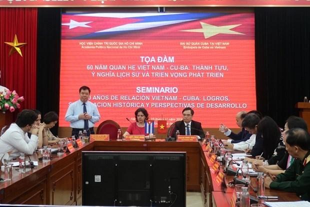 Colloque sur les 60 ans des relations entre le Vietnam et Cuba hinh anh 1