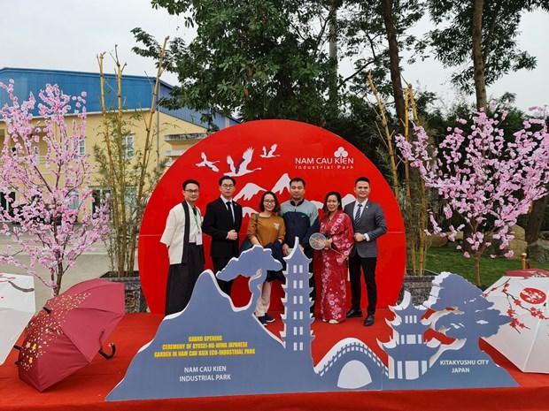 Un jardin de style japonais inaugure a Hai Phong hinh anh 1