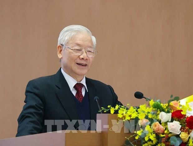 Nguyen Phu Trong exhorte a promouvoir le Renouveau et la mise en œuvre des taches fixees hinh anh 1