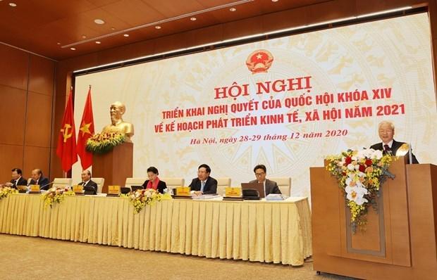 Nguyen Phu Trong exhorte a promouvoir le Renouveau et la mise en œuvre des taches fixees hinh anh 2