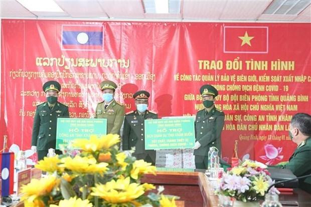 COVID-19 : Quang Binh et Khammoun (Laos) intensifient la cooperation dans la gestion des frontieres hinh anh 1