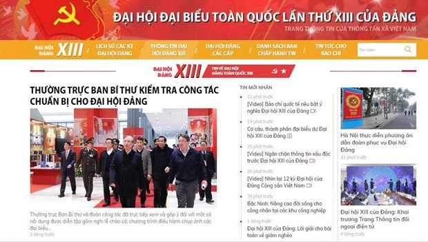 La VNA diffuse rapidement et exactement les informations sur le 13e Congres national du Parti hinh anh 1