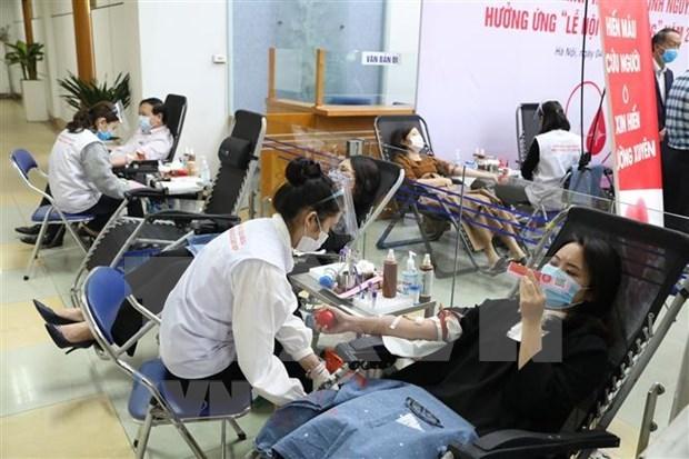 Plus de 8.300 unites de sang collectes lors de la Fete du printemps rouge 2021 hinh anh 1