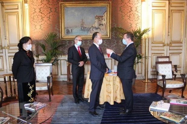 L'ambassadeur du Vietnam en France decore de la Legion d'honneur hinh anh 1