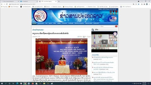 La presse lao met en lumiere le succes des elections legislatives du Vietnam hinh anh 1