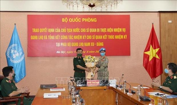 Maintien de la paix : une autre femme officier vietnamienne en mission au Soudan du Sud hinh anh 1