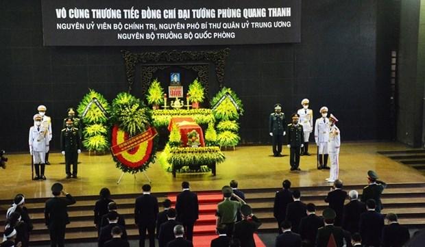 Cérémonie des fuinérailles d'Etat de l'ancien ministre de la Défense Phung Quang Thanh