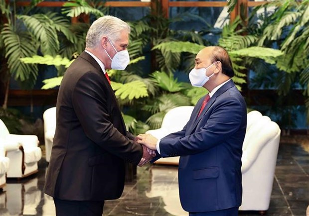Le president Nguyen Xuan Phuc termine sa visite officielle a Cuba hinh anh 1
