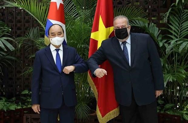 Le president Nguyen Xuan Phuc termine sa visite officielle a Cuba hinh anh 3