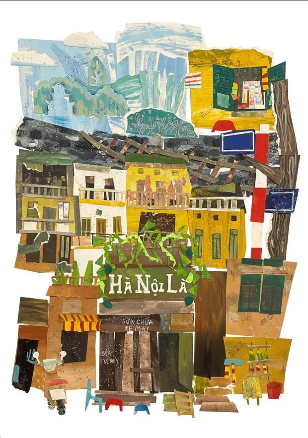 Resultats du concours d'illustration de la ville creative de Hanoi hinh anh 5