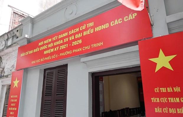 A Hanoi, le quartier de Phan Chu Trinh fin pret pour les legislatives hinh anh 1