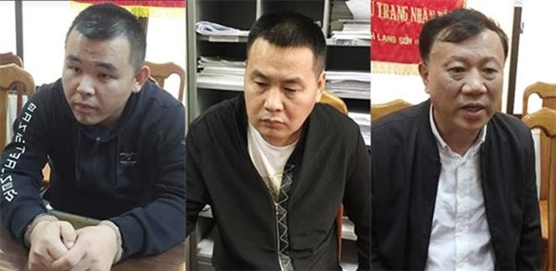 Trois personnes recherchees internationalement arretees a Quang Ninh hinh anh 1